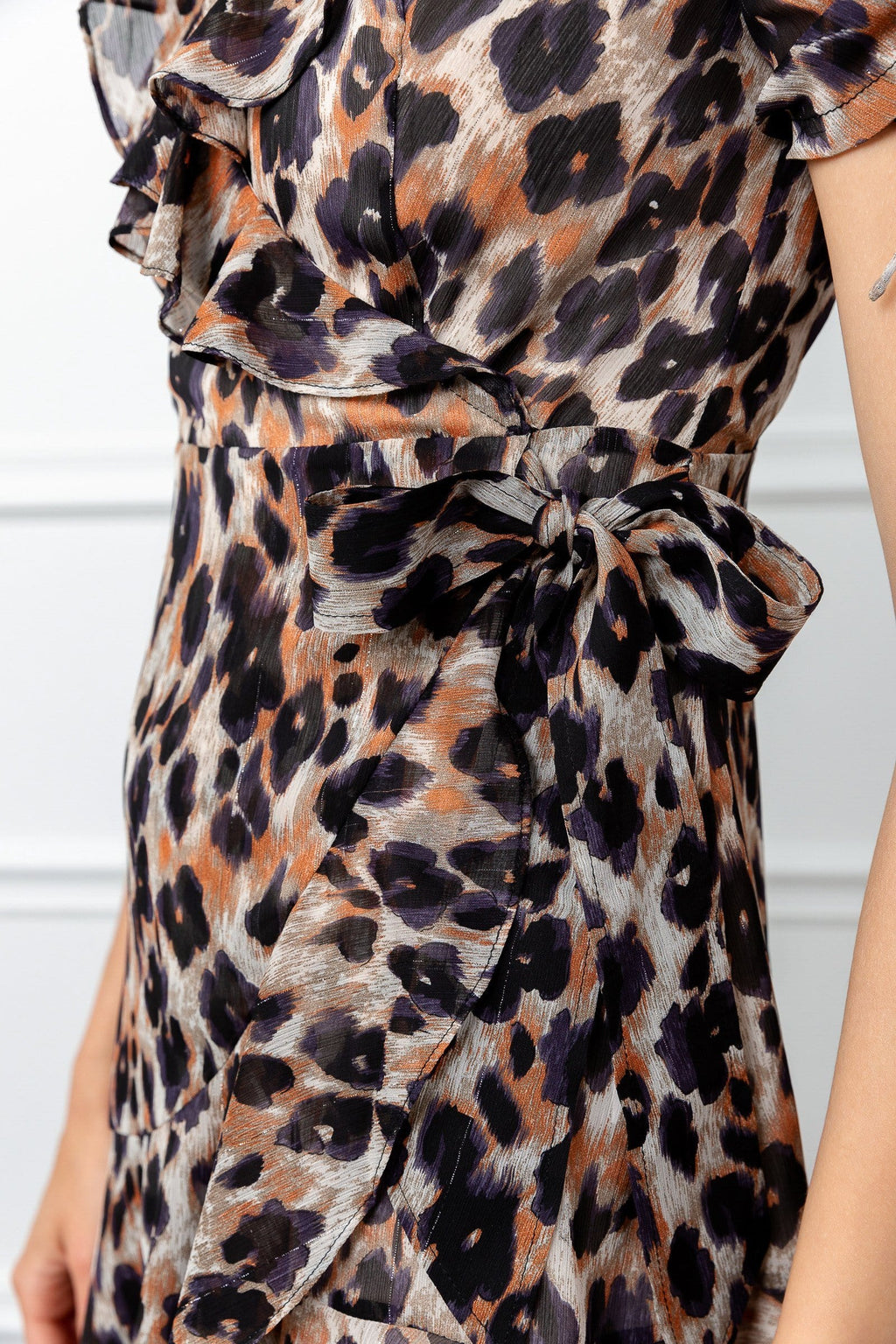 Close up of leopard dress by J.ING for women