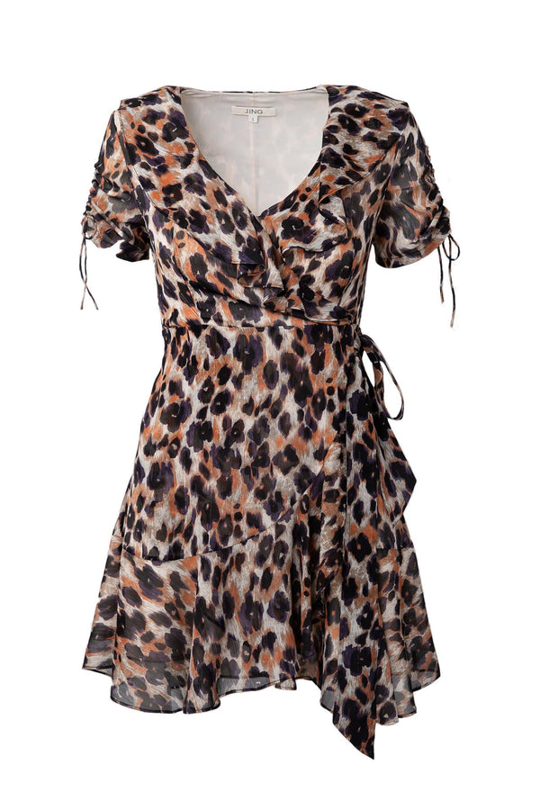 Leopard animal print dress for women J.ING