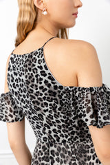 backside of leopard printed dress by j.ing for women