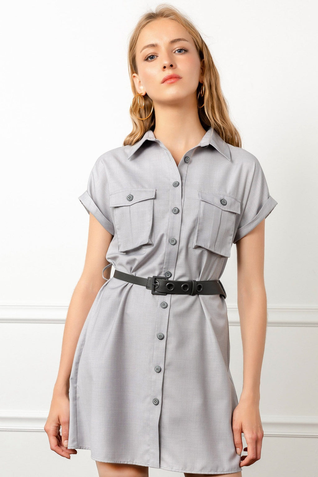 Light grey utility dress by J.ING