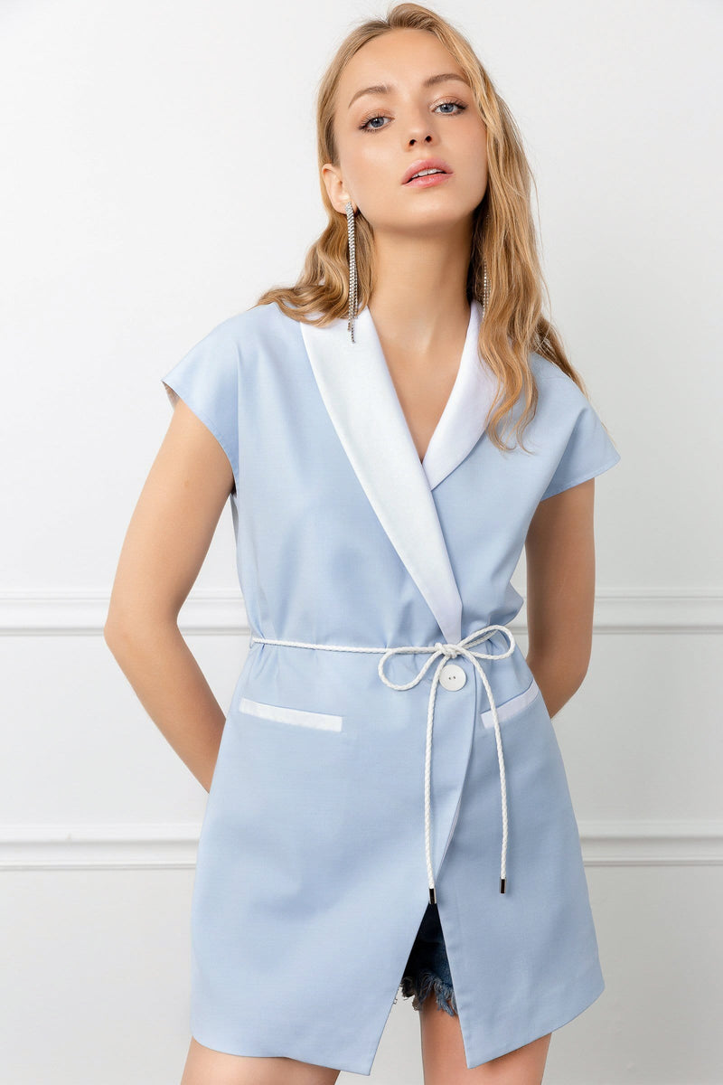 Periwinkle Wrap Dress