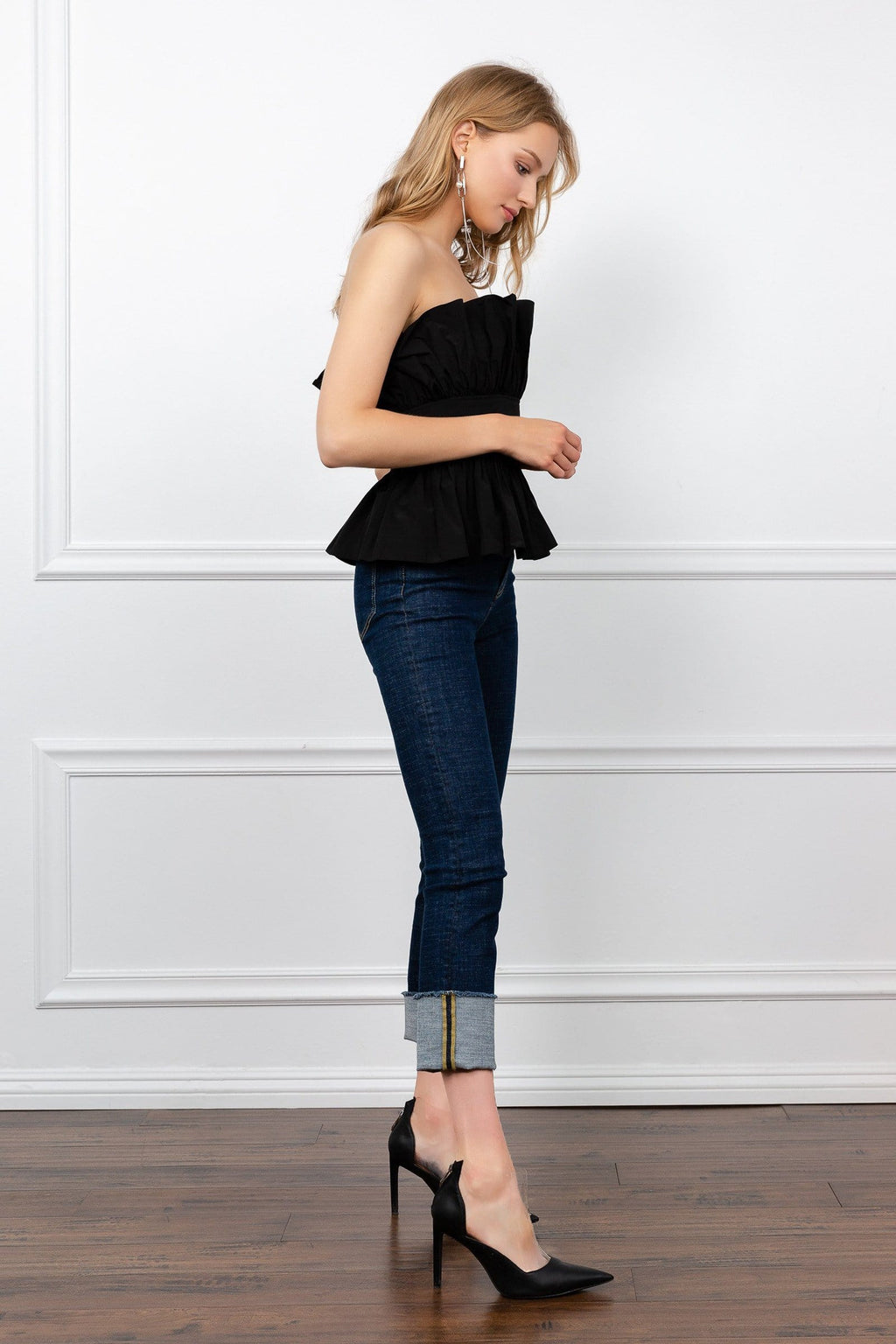 Peplum Tube Top