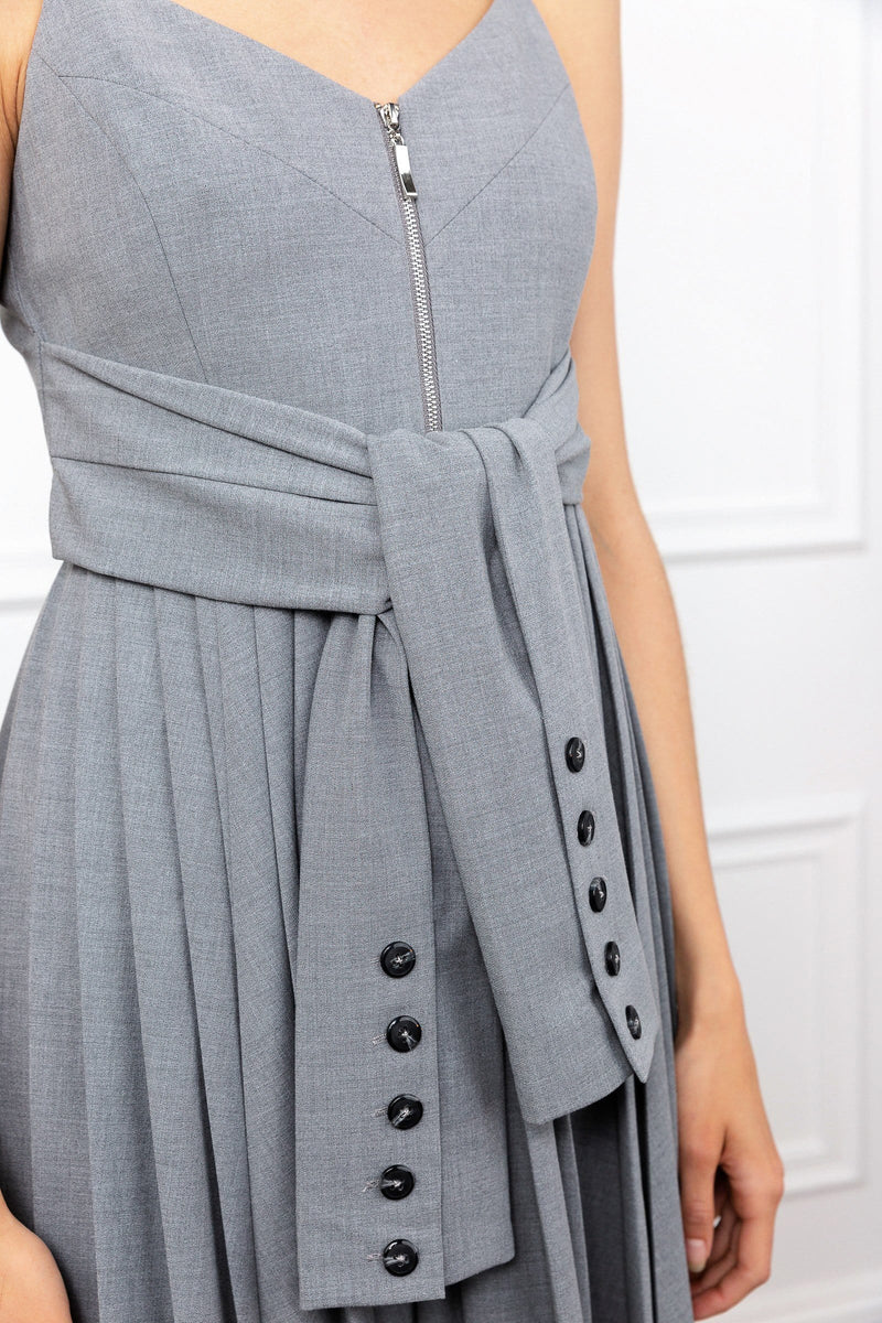 Knotty Grey Dress
