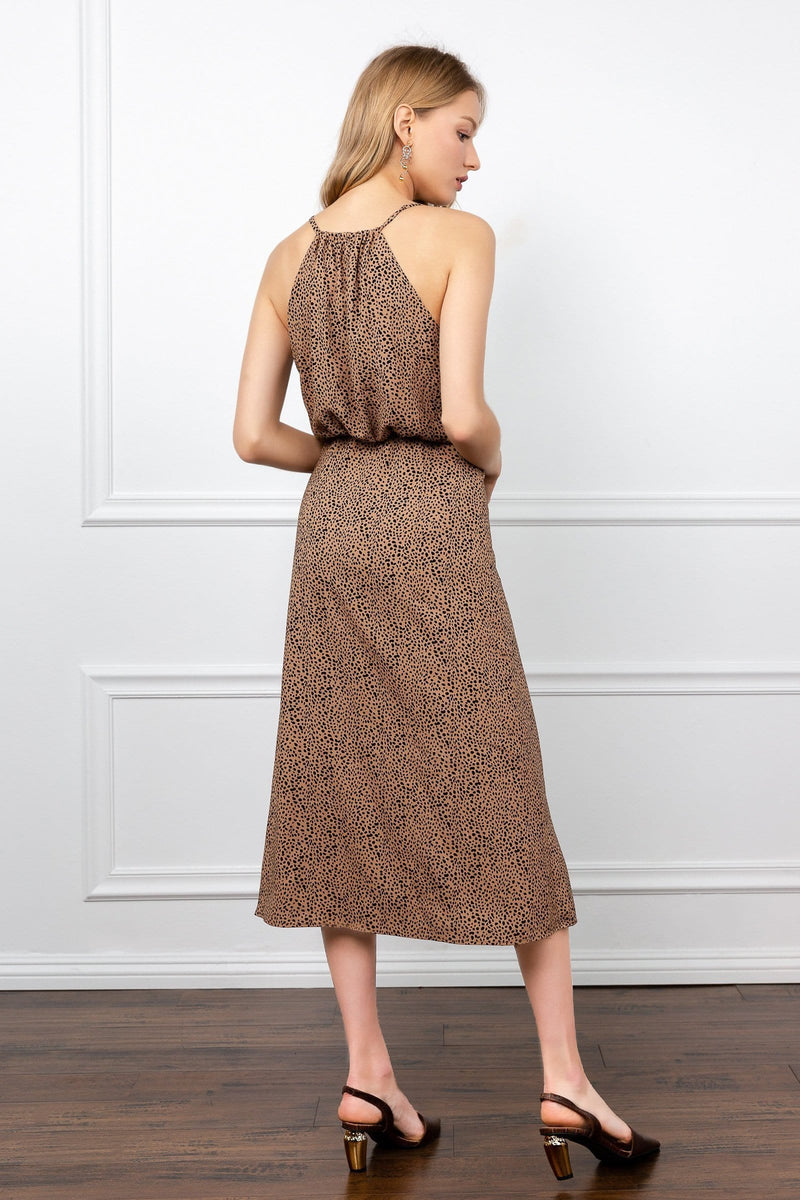 Charlene Cheetah Midi Dress