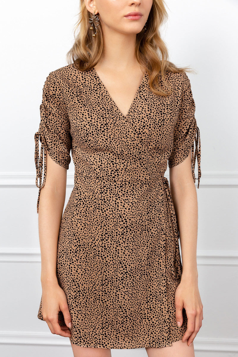Cheetah Surplice Dress