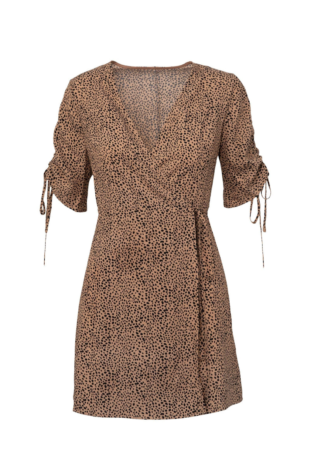 Cheetah Surplice Wrap Dress by J.ING Women's Clothing