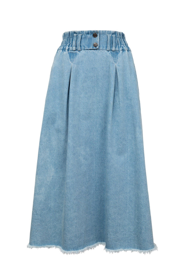 Denim Delight Midi Skirt