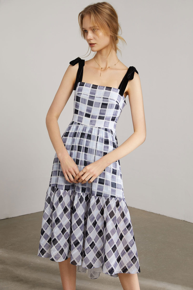 Dorothy Plaid Picnic Midi Dress