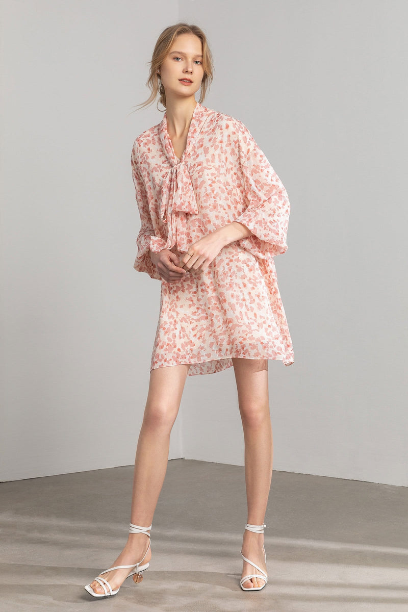 Kathy Coral Floral Shift Dress