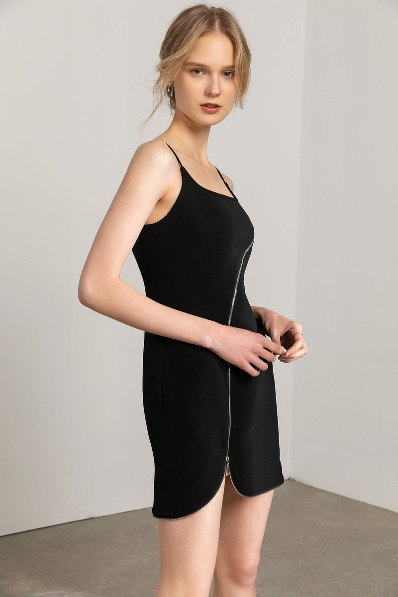 Archer Black Zip Dress