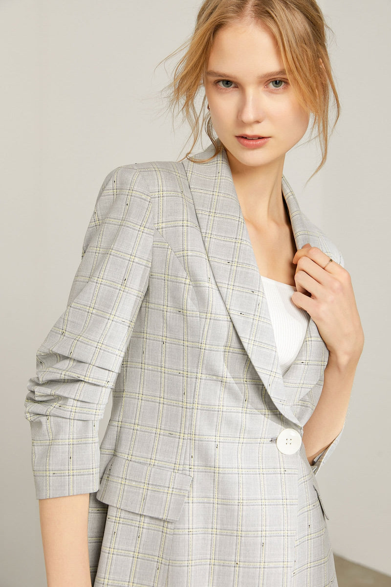 Avery Grey Blazer Midi Dress