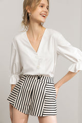 Sullivan White Peasant Blouse