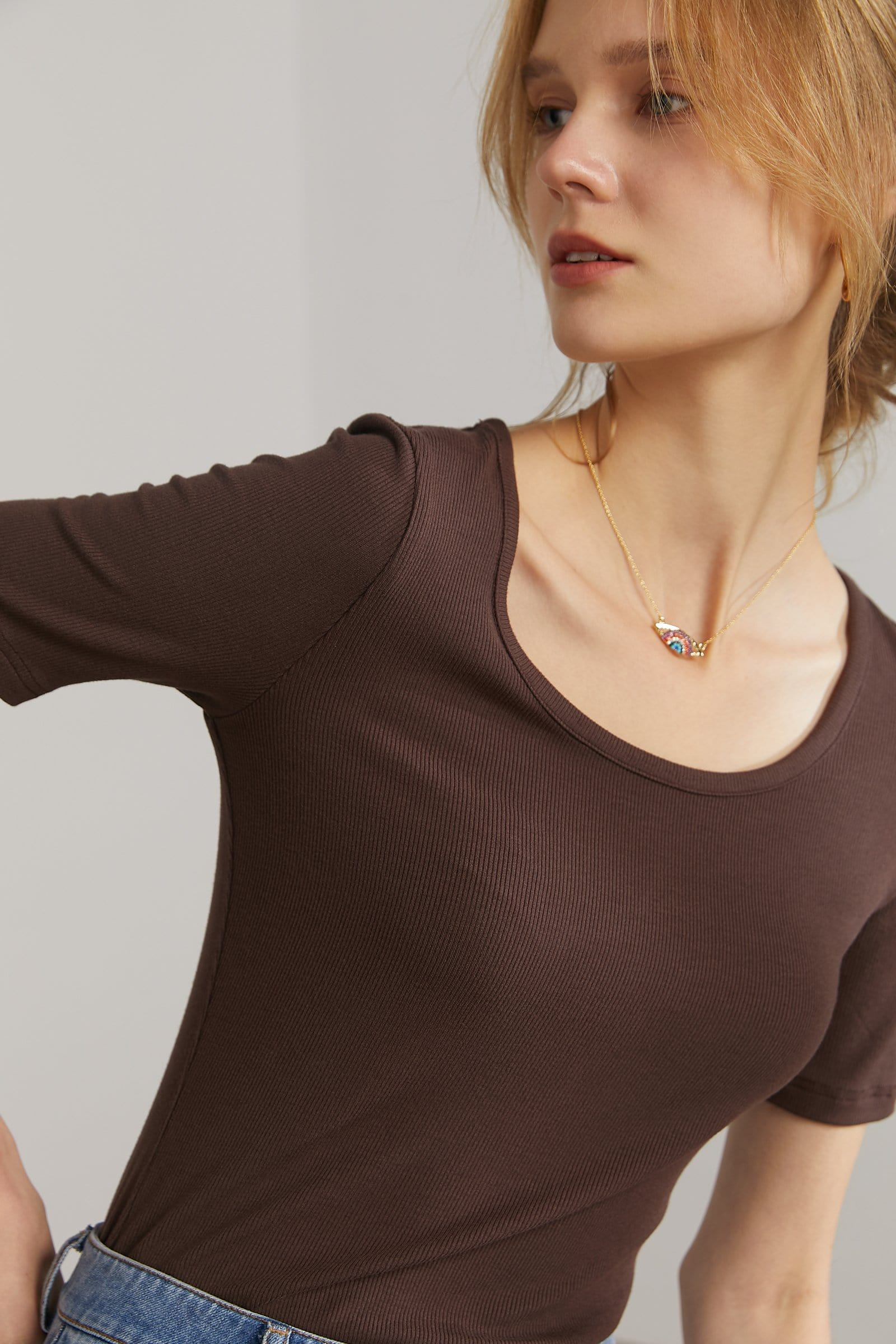 J.ING Women's Tops | Bella Brown Soft Tee