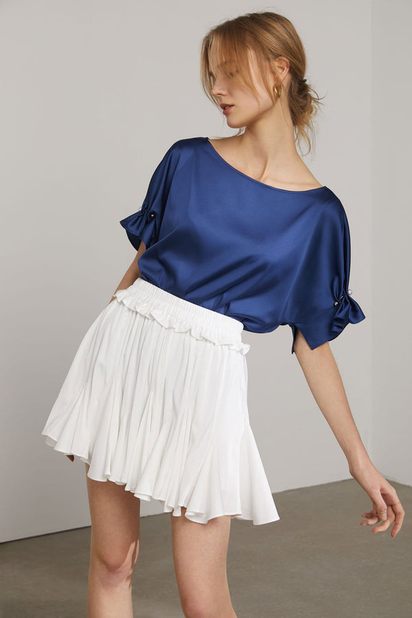 Dua Satin Blue Blouse