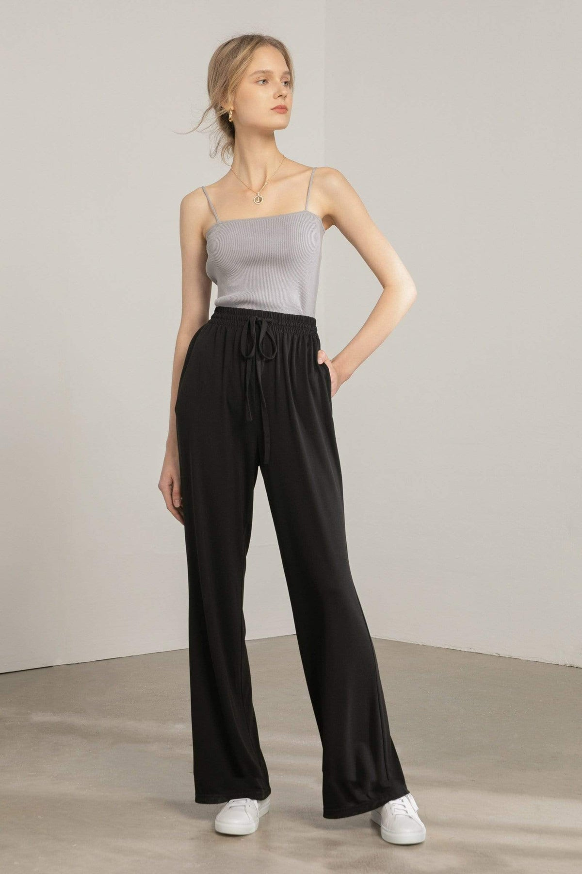 Lounger Black Knit Pants