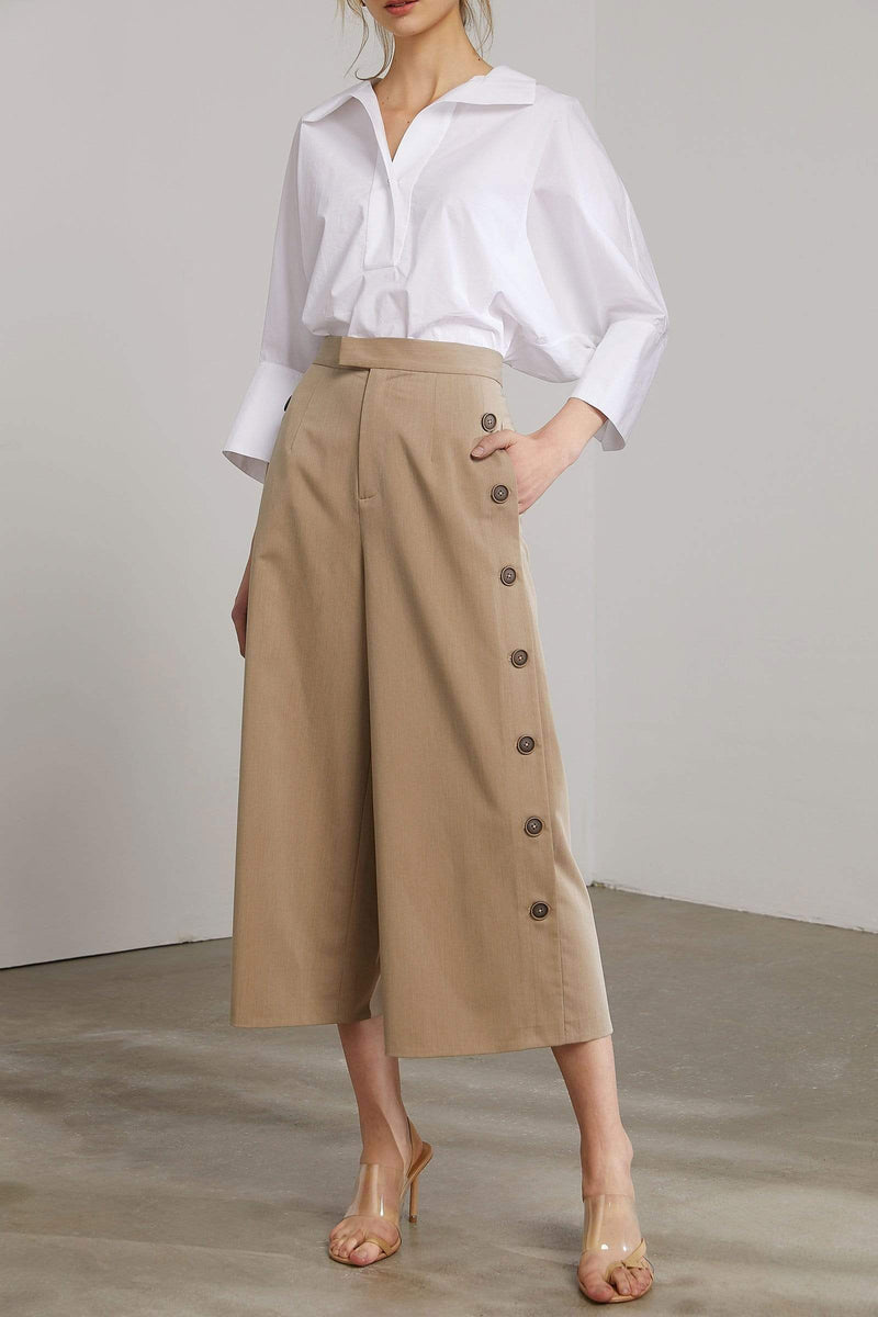 Sona Tan Wide Leg Culotte