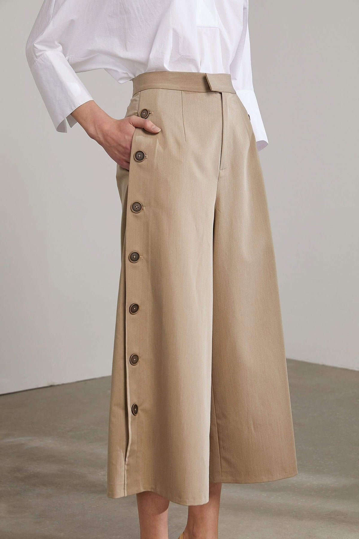 Sona Tan Wide Leg Coulette