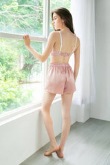 Rosé Satin Sleep Shorts