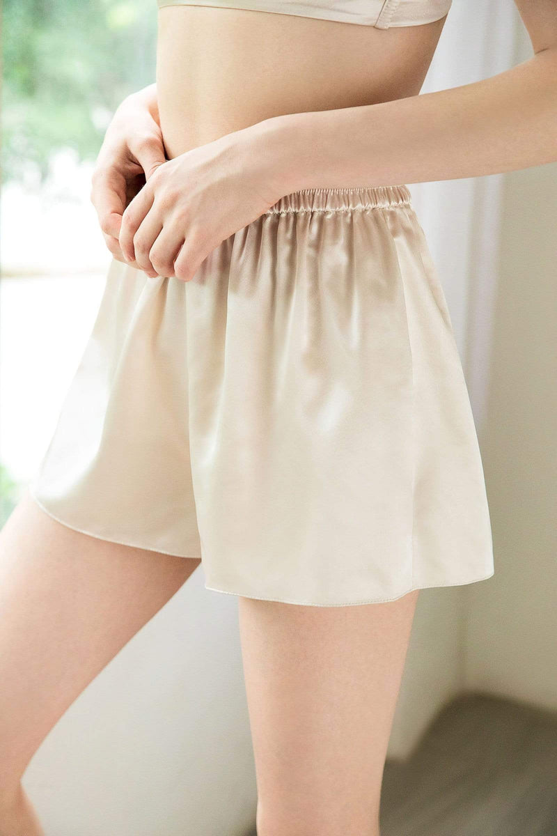 Quartz Satin Sleep Shorts