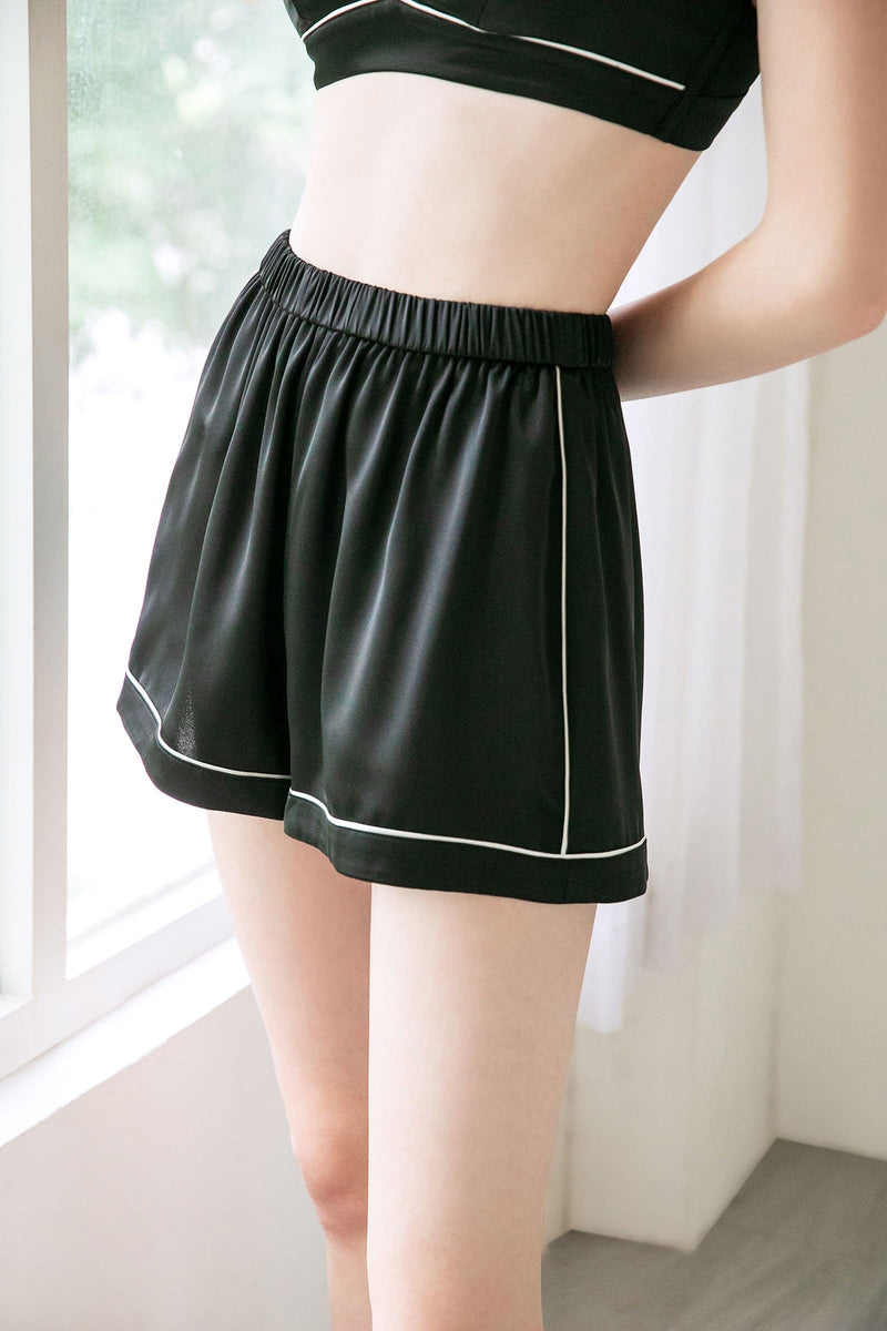 Mont-Blanc Satin Sleep Shorts