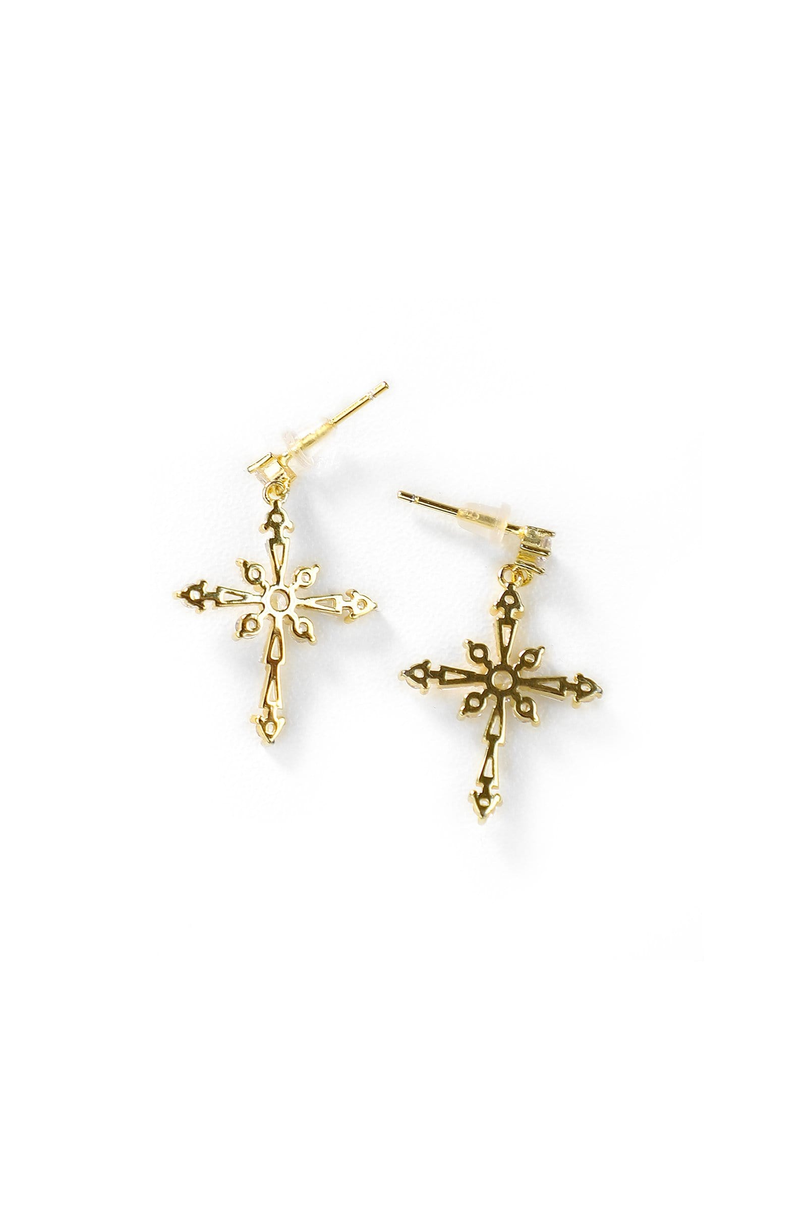 Crystal Crossed Earrings