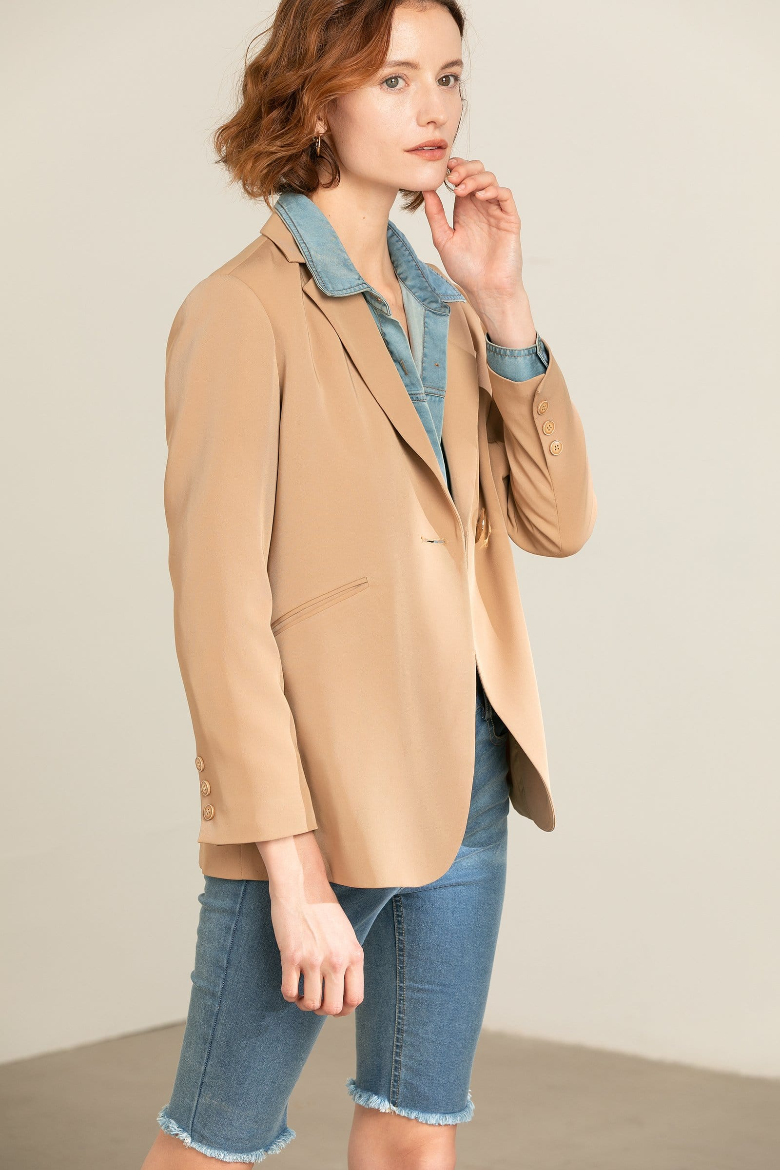 Tasha Tan Loose Blazer