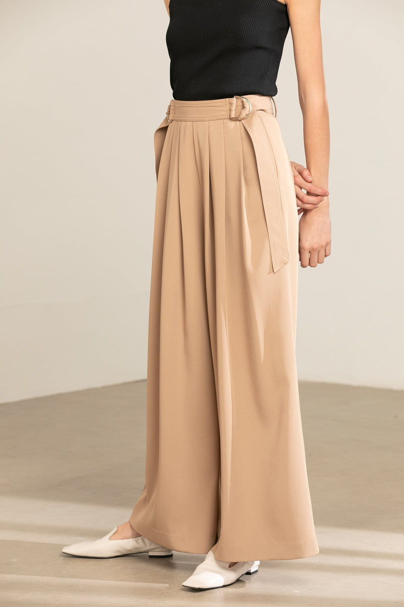 Camel Wide Leg Pants