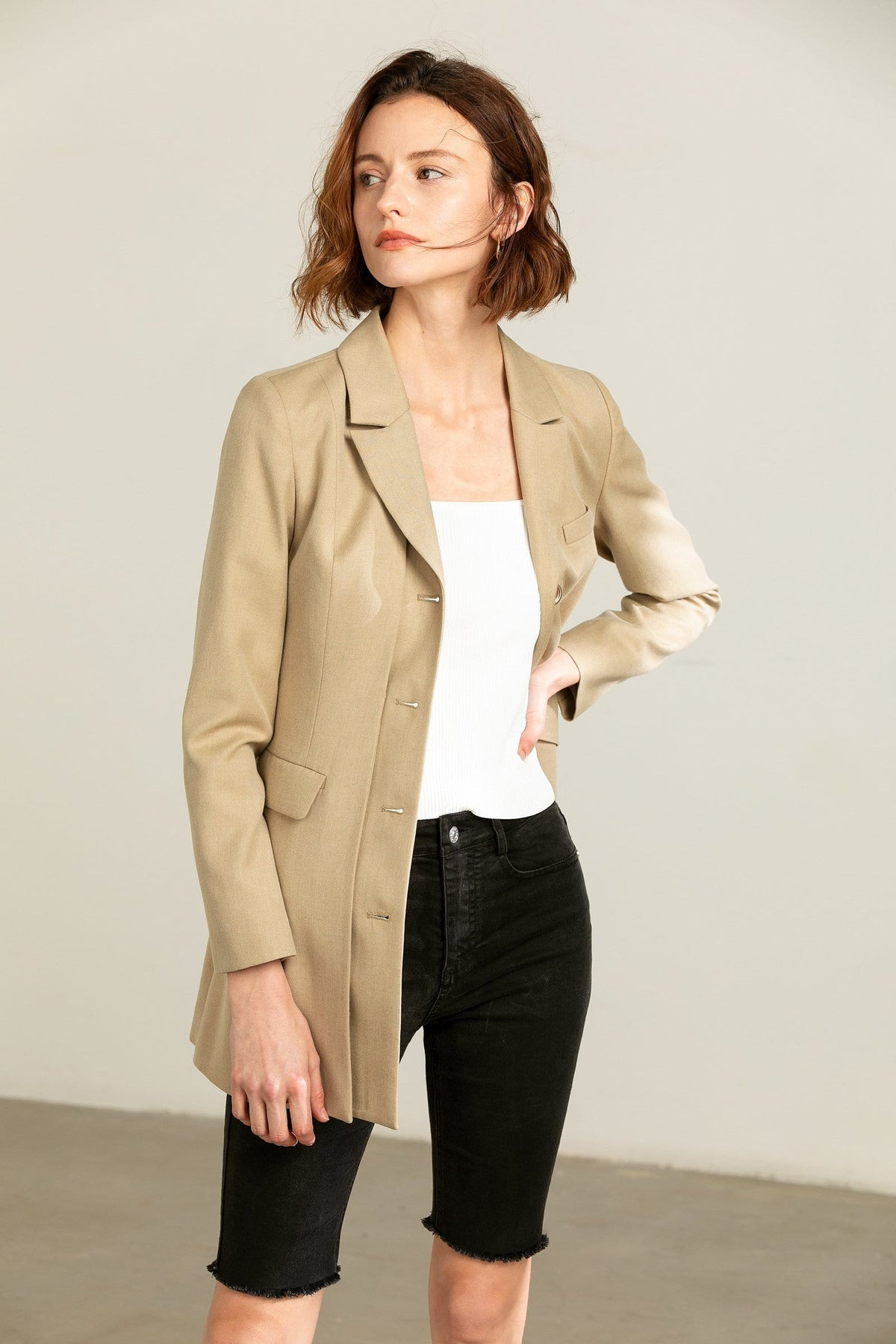 Structured Beige Blazer