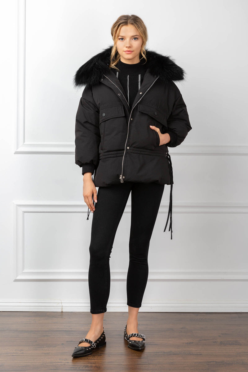 Acacia Parka Black in Coats & Jackets by J.ING - an L.A based women's fashion line