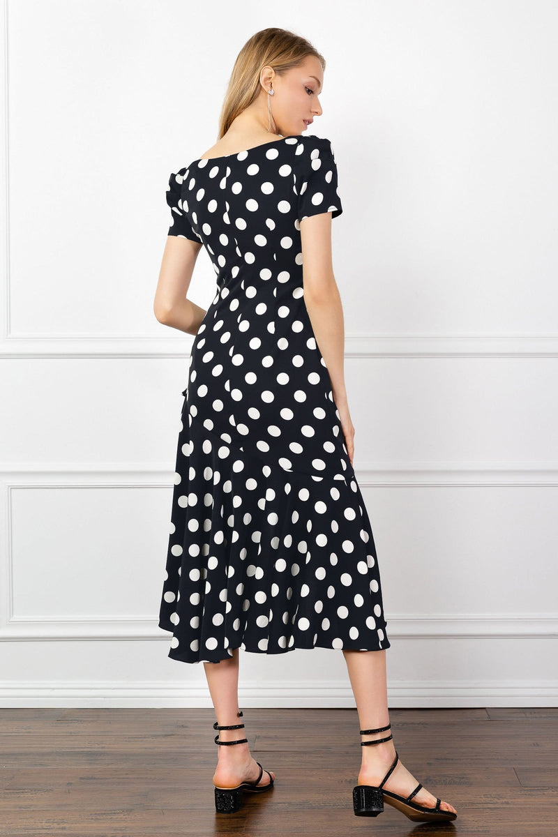 Ada Polka Dot Midi Dress