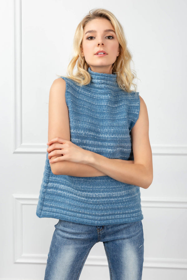 Amanda Sweater Blue in Tops by J.ING - an L.A based women's fashion line