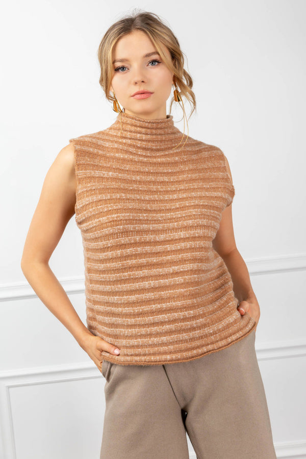 Amanda Sweater Burly Wood in Tops by J.ING - an L.A based women's fashion line