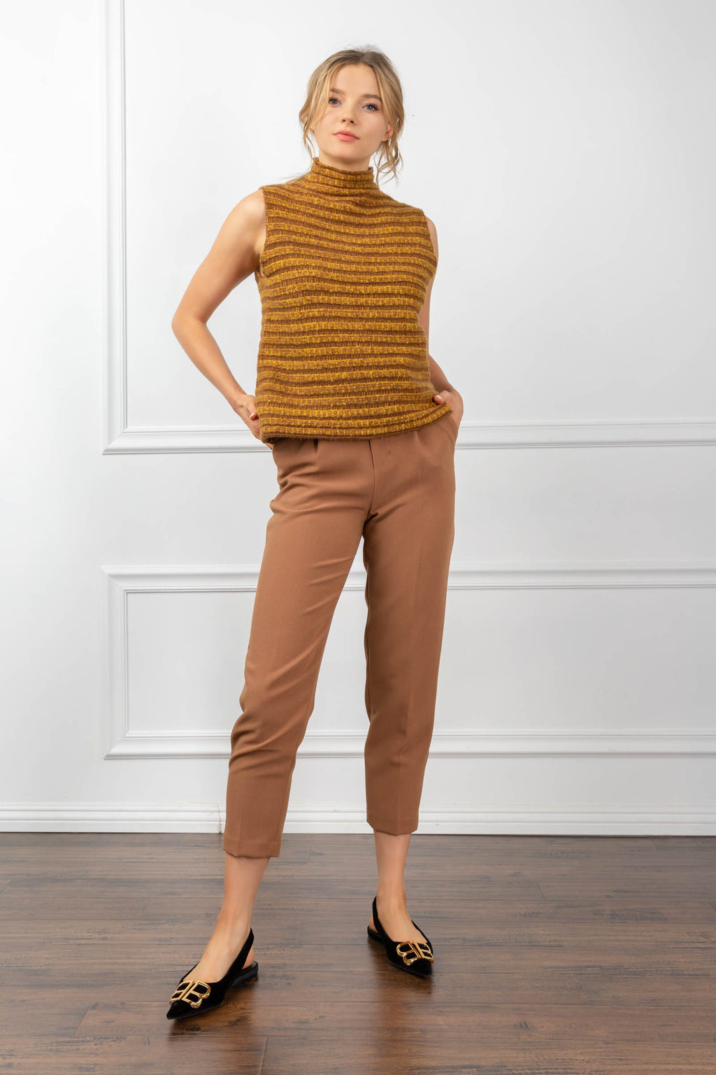 Amanda Sweater Yellow in Tops by J.ING - an L.A based women's fashion line