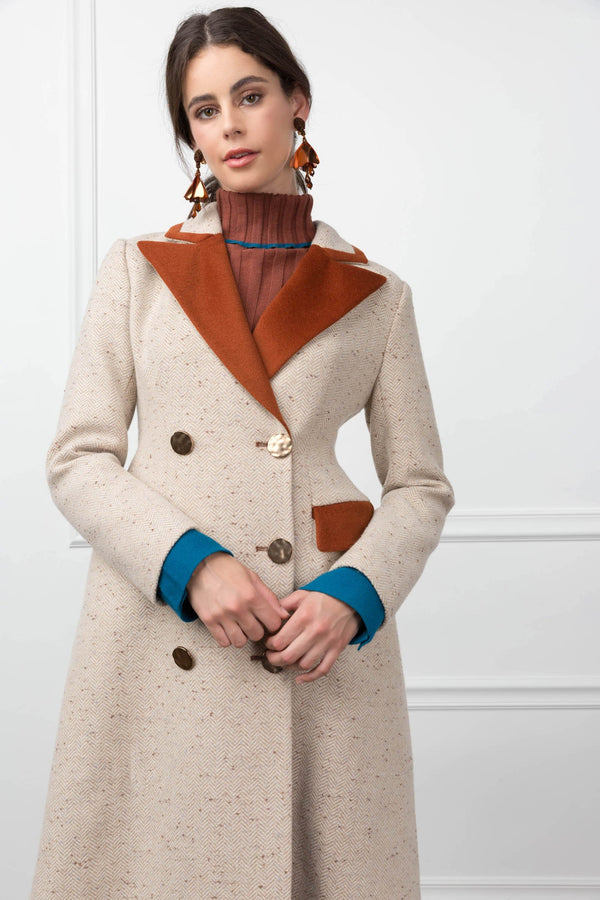 Annabelle Coachman Jacket Camel in Coats & Jackets by J.ING - an L.A based women's fashion line