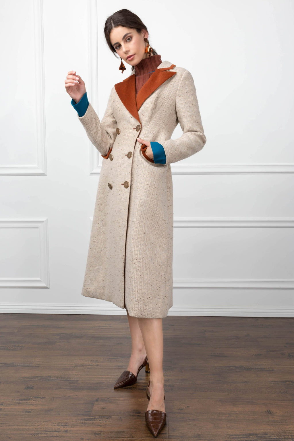 Annabelle Coachman Coat Camel in Coats & Jackets by J.ING - an L.A based women's fashion line