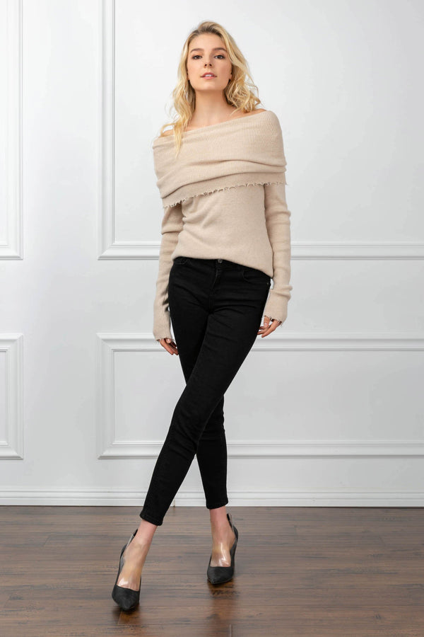 Ariadne Sweater Almond in Tops by J.ING - an L.A based women's fashion line