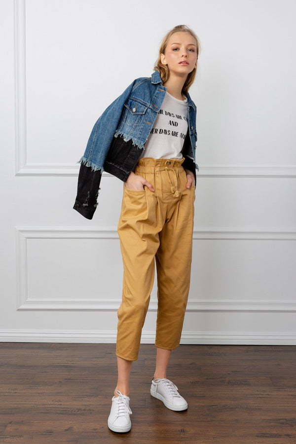 Mustard Yellow Cropped Pants | J.ING Women's Bottoms