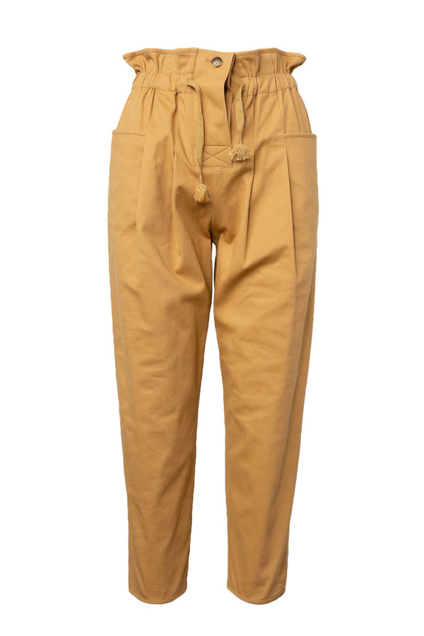 Astrid Mustard Cropped Ankle Pants