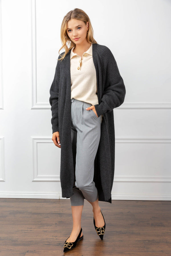 Athena Cardigan Grey in Coats & Jackets by J.ING - an L.A based women's fashion line