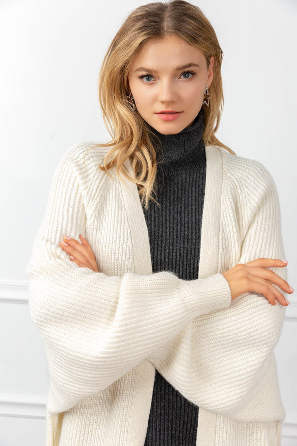 Athena Cardigan White in Tops by J.ING - an L.A based women's fashion line
