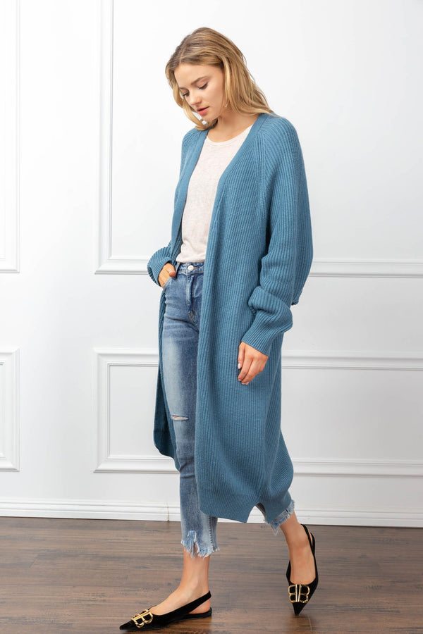 Athena Cardigan Blue in Coats & Jackets by J.ING - an L.A based women's fashion line