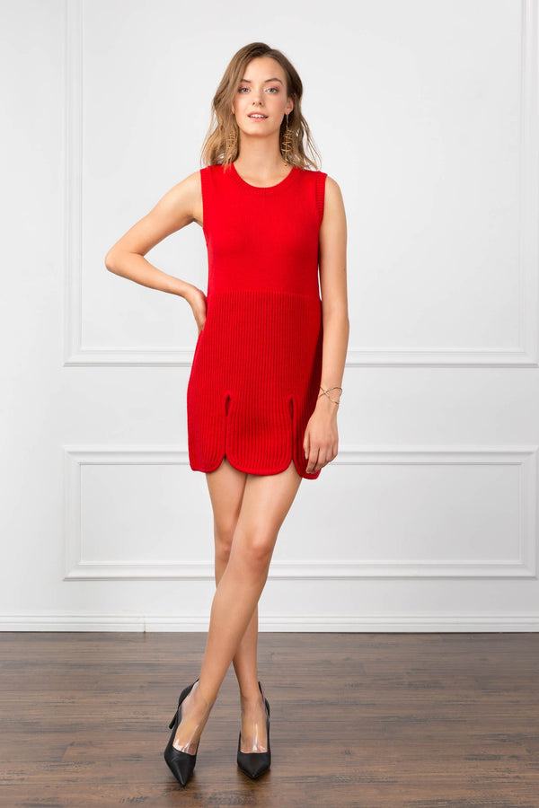 Beverly Dress Scarlet in Knitwear by J.ING - an L.A based women's fashion line
