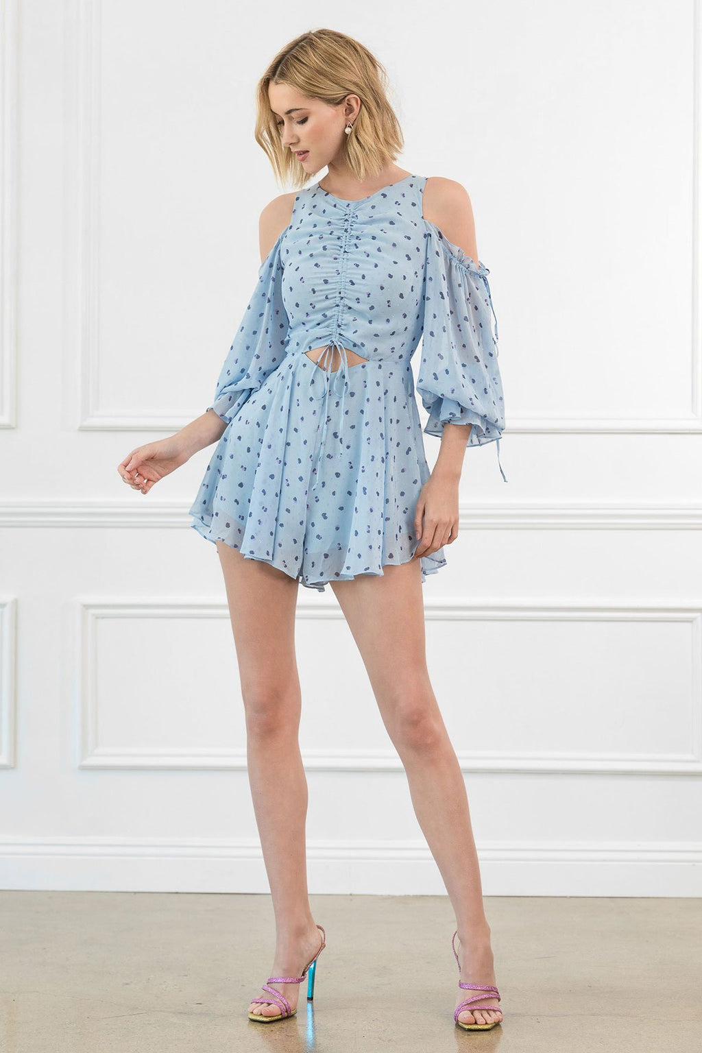 Bluebell Cutout Shoulder Dress in Dresses by J.ING - an L.A based women's fashion line