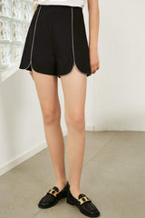 Black Streamline Shorts