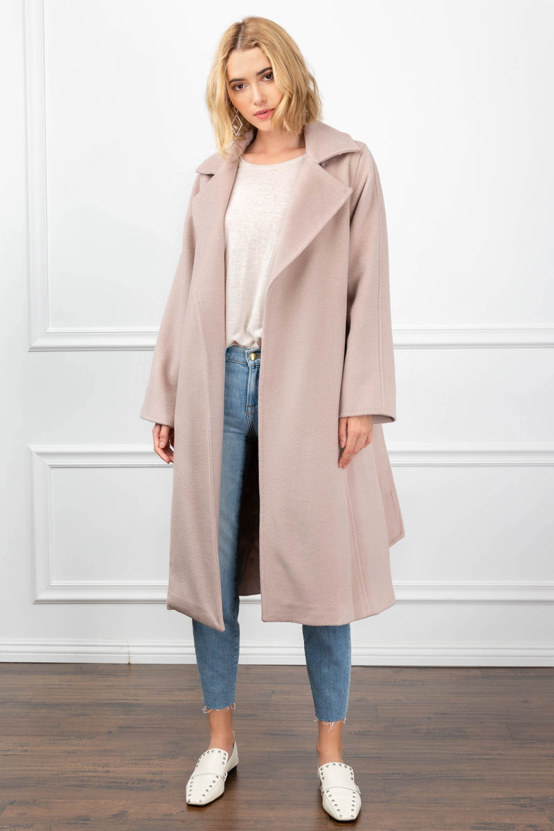 Carey Coat Almost Mauve in Coats & Jackets by J.ING - an L.A based women's fashion line