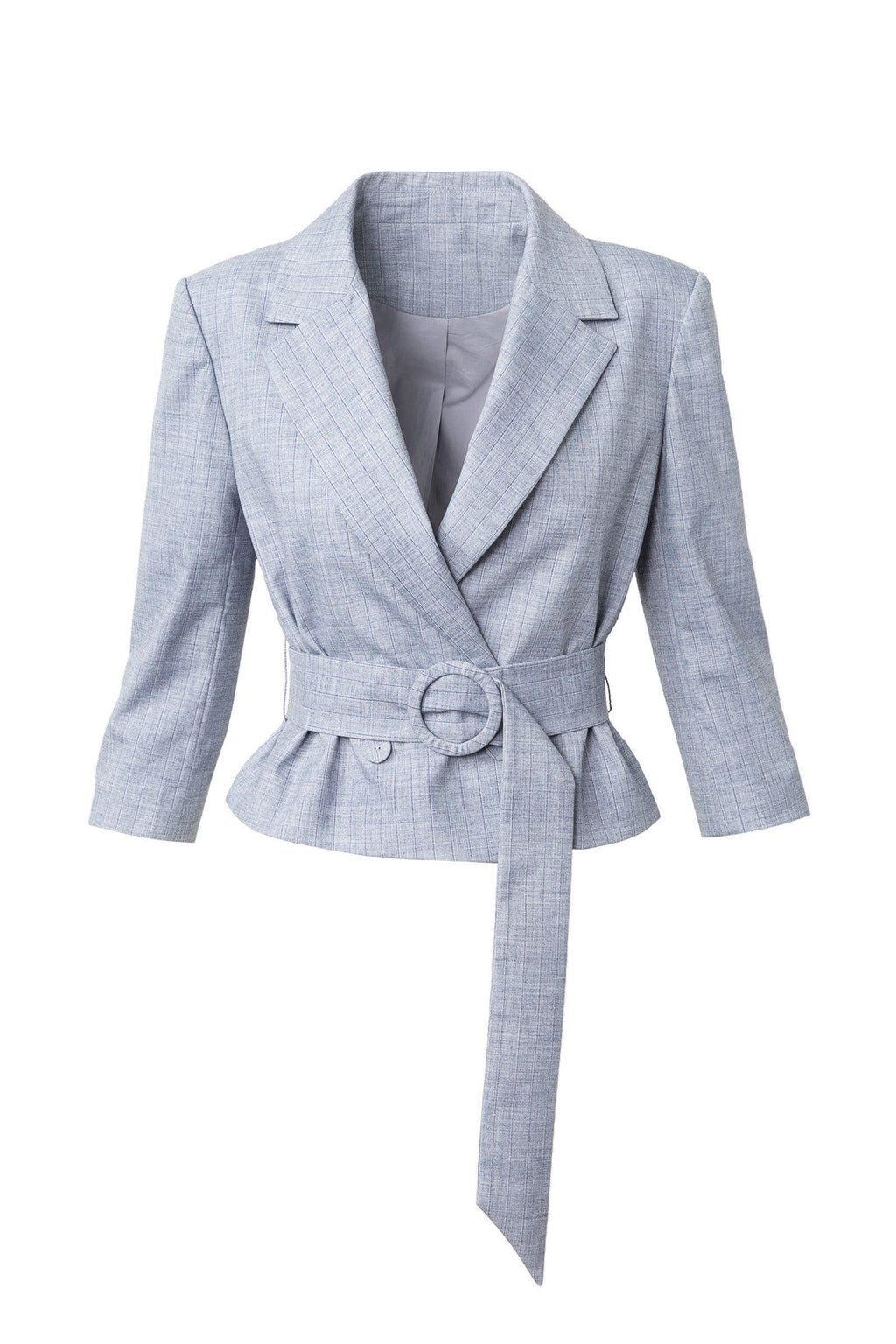 Carmen Blazer in Grey Blue