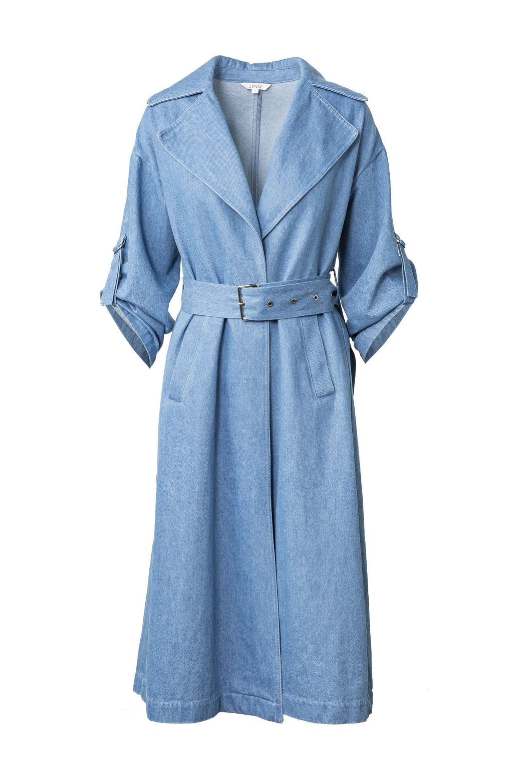 Nadine Blue Jean Trench Coat by J.ING Women's Clothing & Apparel