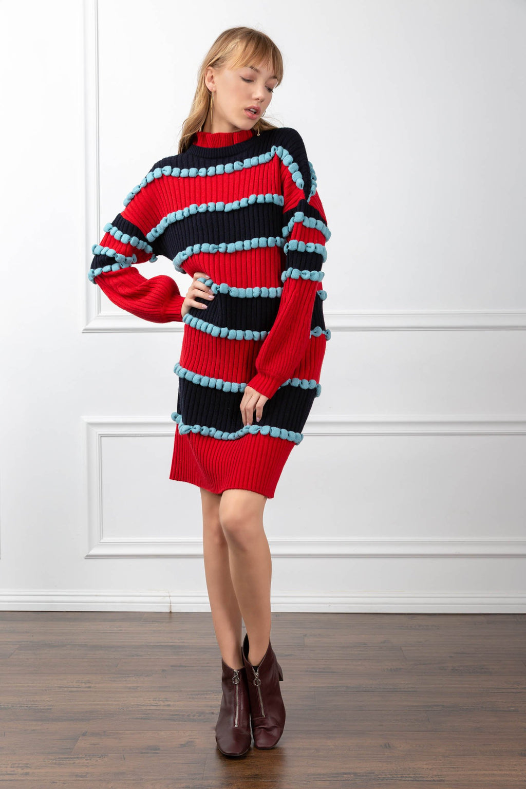 Cassandra Dress in Knitwear by J.ING - an L.A based women's fashion line