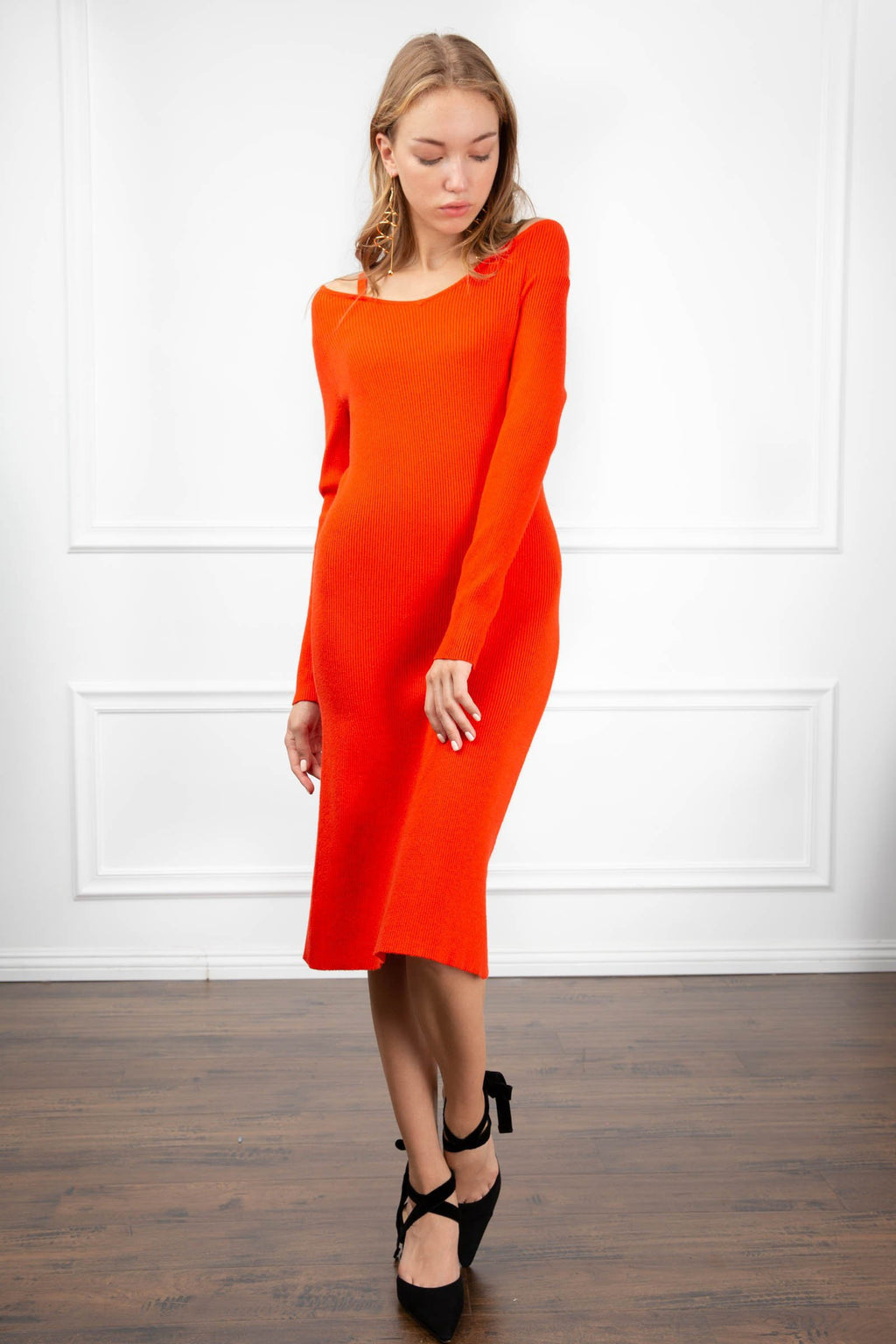 Celeste Knit Dress in Knitwear by J.ING - an L.A based women's fashion line