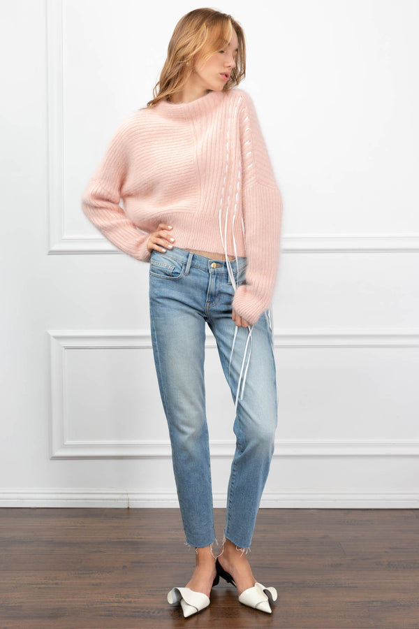 Chloe Pink Sweater in Knitwear by J.ING - an L.A based women's fashion line